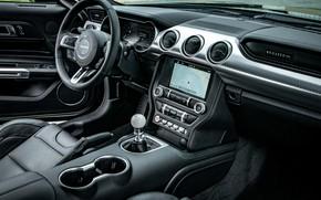 Picture Mustang, Ford, interior, salon, 2018, Bullitt, fastback