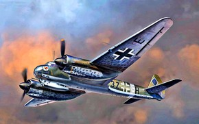 Picture Junkers, WWII, I./KG77, Battle squadron 77, German bomber, Ju-88A-14