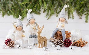 Picture holiday, angels, Christmas, gifts, spices