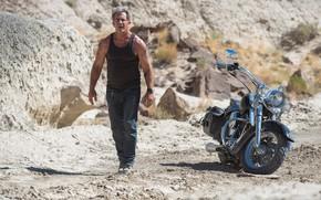 Picture desert, bike, Mel Gibson, Mel Gibson, Blood Father, Джон Линк, Кровный отец