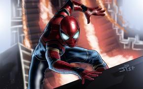 Picture fiction, art, costume, superhero, comic, Spider-man, MARVEL, Spider-Man, Infinity War