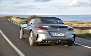 Picture grey, BMW, Roadster, coastline, BMW Z4, M40i, Z4, 2019, G29