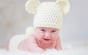 Picture look, hat, baby, ears