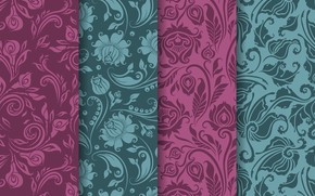 Picture flowers, pattern, texture, vintage