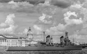 Picture retro, rendering, cruiser, Kirov