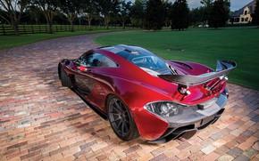 Picture McLaren, McLaren, Hypercar, Hybrid, Back, P1