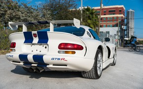 Picture Exhaust, Dodge Viper, Sportcar, Back, Sports car, GTSR