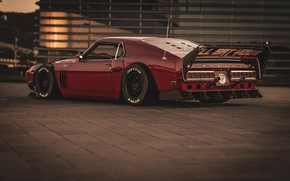 Picture Ford, Shelby, GT500, Red, Auto, Retro, Machine, 1969, Car, Car, Muscle car, Cherry blossom, Bordeaux, …
