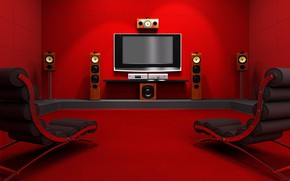 Picture red, room, dynamics, monitor