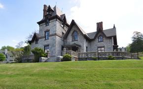 Picture Villa, architecture, exterior, Gothic Villa in Irvington, N.Y. North Broadway, Ирвингтон, Irvington