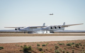 Picture Smoke, Landing, WFP, Stratolaunch, Stratolaunch Model 351, Stratolaunch Systems, The aircraft carrier