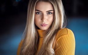 Picture look, hair, portrait, Girl, blonde, Anatoly Oskin, Anne Pfeifer