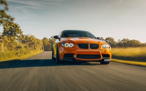 Picture design, BMW, car, the front, speed, E92 M3