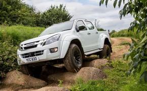 Picture pickup, boulders, Isuzu, 2016, Arctic Trucks, D-Max, UK version, AT35