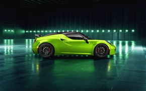 Picture side view, 2018, Green Arrow, Centurion, Alfa Romeo 4C, Pogea Racing