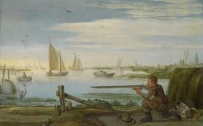 Picture landscape, oil, picture, sail, 1631, Arent Arentsz, Arent Arenz, Hunter Bird