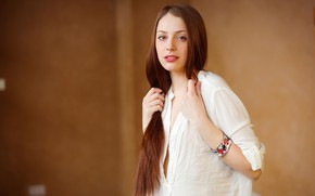 Picture look, girl, pose, model, hair, brown hair, Isabella