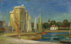 Picture picture, 1896, the urban landscape, The Port Of La Rochelle, Pierre Auguste Renoir, Pierre Auguste …