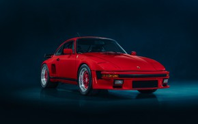 Picture red, car, the front, TURBO, PORSCHE 930