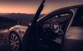 Picture sunset, Bentley, the evening, salon, Flying Spur, 2020, Blackline