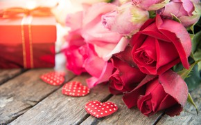 Picture love, heart, roses, red, red, love, heart, pink, flowers, romantic, gift, roses