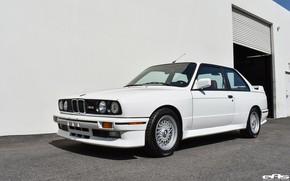 Picture White, German car, BMW E30 M3