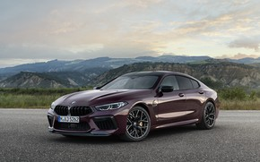 Picture coupe, BMW, Parking, 2019, M8, the four-door, M8 Gran Coupe, M8 Competition Gran Coupe, F93