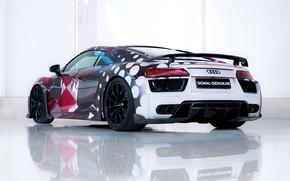 Picture supercar, Audi R8, rear view, 2018, ABBOT, Signal Design