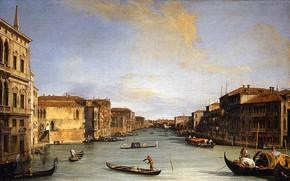Picture Venice, the urban landscape, Canaletto, Canaletto, Giovanni Antonio Canal, Вид Гранд-Канала