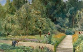 Picture landscape, picture, 1921, Max Liebermann, Max Liebermann, Garden in the West of Wannsee