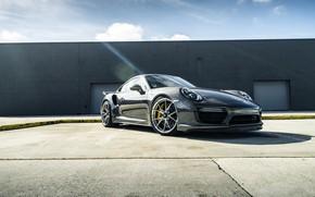 Picture Porsche, Sky, Sun, Gray, 991, VAG, Sight