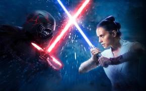 Picture Lightsabers, Kylo Ren, Lucasfilm, Adam Driver, Rey, Daisy Ridley, Star Wars episode IX, Star Wars …