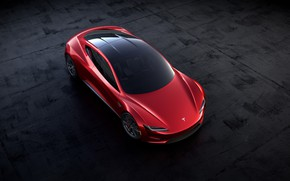 Picture Roadster, the view from the top, Tesla, 2020