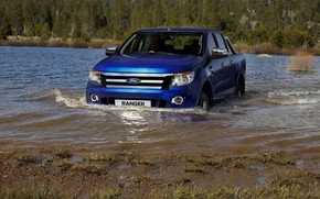 Picture blue, river, Ford, pickup, Ranger, Ford