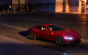 Picture lights, Ferrari, supercar, Roma, 2020
