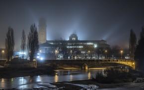 Picture Munich, mist, Deutsches Museum