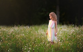 Picture summer, nature, girl