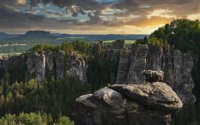 Picture landscape, nature, forest, Saxon Switzerland, Elbe Sandstone mountains, Bastei