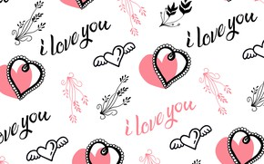 Picture labels, Love, texture, white background, I love you, Vintage, Heart