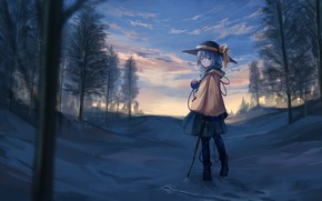 Picture girl, nature, painting, Touhou, Touhou, Touhou