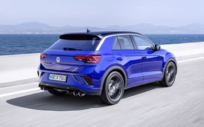 Picture speed, Volkswagen, rear view, crossover, 2020, T-Roc, T-Roc R