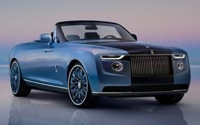 Picture Rolls-Royce, sedan, luxury, V12, exterior, 2021, Boat Tail, Phantom Drophead Coupe, эксклюзивный автомобиль, Rolls-Royce Boat …