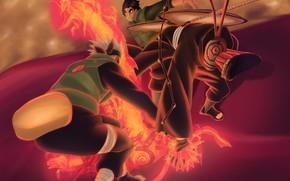 Picture anime, battle, art, naruto, guys, naruto, characters, naruto Uzumaki, shippuden, upholstered Uchiha, Hai, Kakashi Hatake