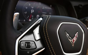 Picture Corvette, Chevrolet, Speedometer, The wheel, Tachometer, Stingray, 2020, Chevrolet Corvette ( C8 ) Stingray