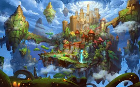 Picture the game, fantasy, art, location, environment, YongHui JIA