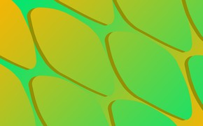 Picture yellow, abstract, gradient, green, абстРакция
