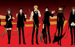 Picture art, characters, the main characters, Durarara, Durarara, Of Izaya Orihara, Shinra, Masaomi Kedar, Mikado Ryugamine, …
