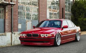 Picture BMW, 740, RED, E38