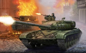 Picture Ural, T-72, Soviet medium and main tank, The most massive tank of the second generation, …