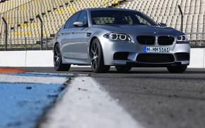 Picture asphalt, grey, BMW, sedan, F10, 2013, M5, M5 Competition